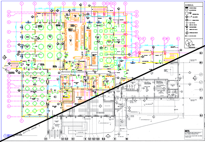 Examples of PDFs and Scans Converted to CAD on