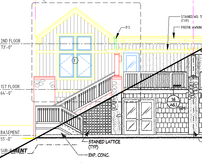 Plan To Elevation Converter : Examples of pdfs and scans converted to cad